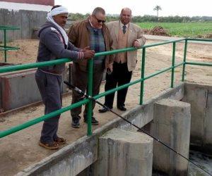 رئيس مصلحة الميكانيكا والكهرباء يتفقد محطة طلمبات مصرف 11 بكفر الشيخ (صور)