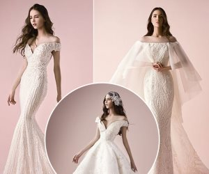 الأوف وايت.. أخر صيحات موضة الأزياء لفساتين زفاف 2018