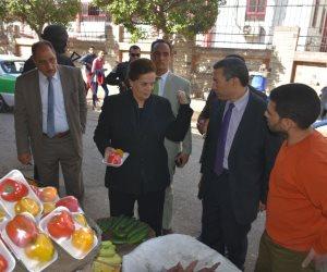 نادية عبده تتفقد منافذ بيع السلع الغذائية بأسعار مخفضة للمواطنين