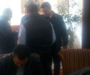 بدء اجتماع لجنة الكرة بالأهلي في حضور عبد الحفيظ والبدري والخطيب (صور)