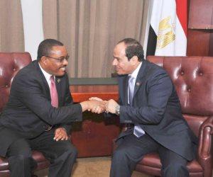 السيسى ورئيس وزراء إثيوبيا يشهدان توقيع اتفاقيات فى مجال التعاون الصناعي