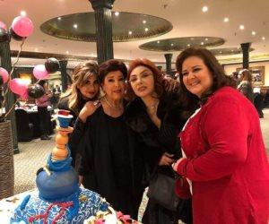 بوسي شلبي تحتفل بعيد ميلاد نبيلة عبيد