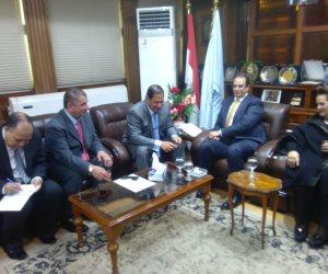 """3 محافظين يجتمعون بكفر الشيخ لتدشين مشروع """" مصنعك بقريتك """""""
