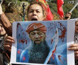 """""""أردوغان الإرهابي"""".. الأكراد يتظاهرون في لبنان ضد الطغيان التركي في عفرين السورية (صور)"""