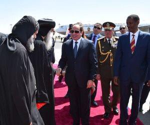 استقبال رسمي للسيسي في أديس أبابا.. وجلسة مغلقة مع الزعماء (صور)