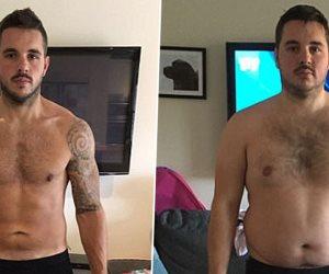 """""""دان سوليفان """" غير حياته وفقد وزنه وتخلص من السمنة من أجل حلم لعب كرة القدم"""