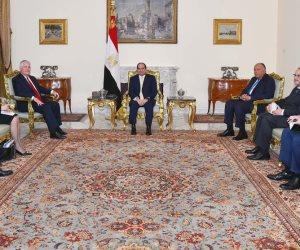 الرئيس السيسي يستقبل وزير الخارجية الأمريكي ريكس تيلرسون