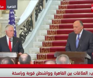 وزير الخارجية الأمريكي من القاهرة: ندعم مصر في حربها ضد الإرهاب