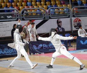 الثلاثاء.. منافسات 20 سنة للفردى في ثاني أيام البطولة العربية للسلاح (صور)