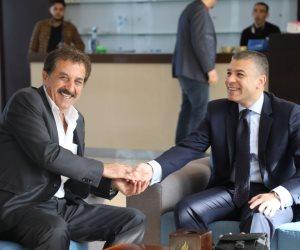 الوفد الأمني المصري في غزة يلتقي رئيس سلطة المعابر الفلسطينية (صور)