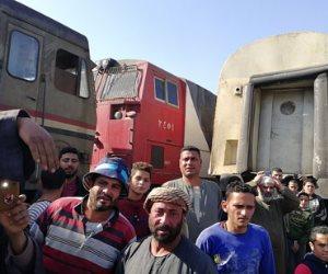 حادث قطارى البحيرة.. حبس سائق قطار ركاب المناشي ومساعده وعامل التحويلة 4 أيام