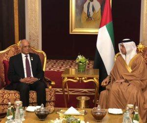 نائب رئيس مجلس الوزراء الإماراتي: مصر تمثل القاعدة التي ترتكز عليها كل الدول العربية (صور)