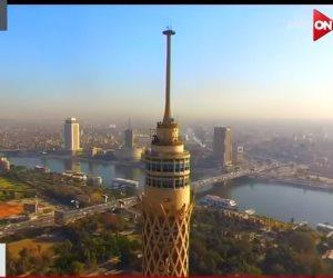 """""""متع عينيك"""".. من فوق برج القاهرة (فيديو)"""