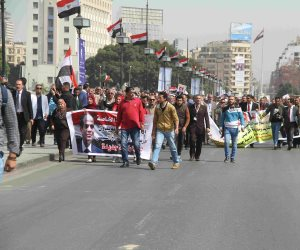 20 صورة ترصد مسيرة المعلمين لتأييد السيسي في الترشح لفترة رئاسية ثانية