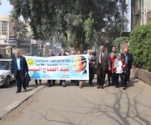 """بدء توافد المعلمين للمشاركة في مؤتمر """"انزل شارك.. مصر الأهم"""" لدعم الرئيس (صور)"""