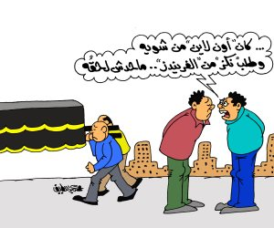هوس مواقع التواصل الاجتماعي في كاريكاتير صوت الأمة