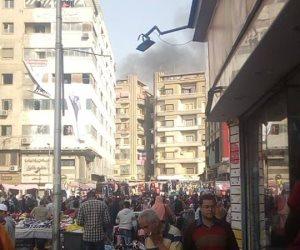 المعمل الجنائي يعاين الحريق بمنطقة الرويعي بالعتبة ( صور)