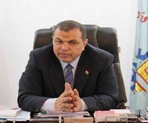 """""""سعفان"""" يهنئ محافظ الفيوم بالعيد الوطني للمحافظة"""