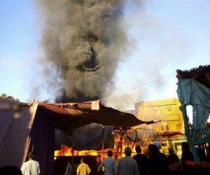 الحماية المدنية تسيطر على حريق هائل بمزرعة موالح بوادي النطرون