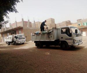 حملة نظافة لرفع المخلفات والتراكمات بشوارع مدينة طما بسوهاج (صور)
