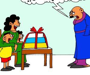 غضب الأب من هدايا عيد الأم في كاريكاتير صوت الأمة