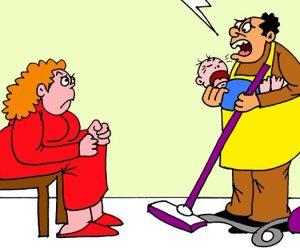 عيد الأم في البيت المصري (كاريكاتير)