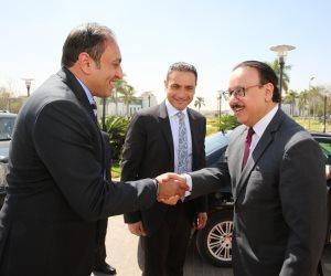 تفاصيل.. لقاء ياسر القاضي بقيادات المشغل الوطني لخدمات الاتصالات (صور)
