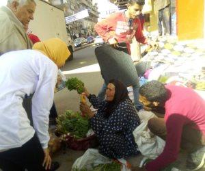 """«رمانة الميزان""""» مبادرة لتهنئة السيدات بعيد الأم وحثهم علي المشاركة في الانتخابات الرئاسية (صور)"""