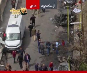 ON Live تعرض اللقطات الأولى من موقع انفجار شارع المعسكر بالإسكندرية
