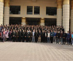 جامعة مدينة السادات فى أكاديمية الشرطة لاجراء معايشة بين الطلاب