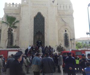 آداء صلاة الجنازة على شهيدى تفجير الإسكندرية بـ«القائد إبراهيم»