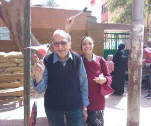 «حبيبي ناخبًا».. مسنان يدليان بصوتهما في انتخابات الرئاسة