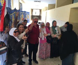 حسين فهمى يدلى بصوته بالشيخ زايد: صممت على الأدلاء بصوتي في بلدى