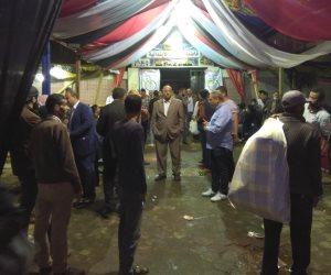 بدء توافد حشود الناخبين للتصويت بلجان الجامعة العمالية (صور)
