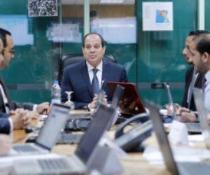 السيسي تابع إعلان نتائج الانتخابات الرئاسية من غرفة عمليات حملته الانتخابية