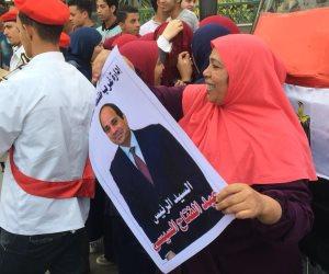 المواطنون يحتشدون بشوارع الغربية احتفالا بفوز السيسي بفترة رئاسية ثانية