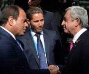 رئيس أرمينيا يهنئ السيسي بفوزه فى انتخابات الرئاسة