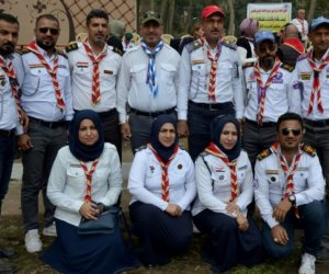 قادة الكشافة العراقيون يشاركون بتدريب في مخيم الحدباء بالموصل