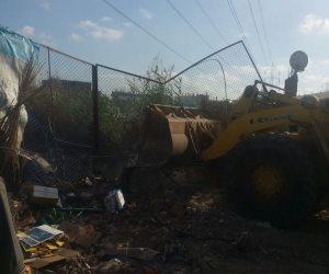 إزالة 28 حالة تعدى على أراضى الدولة شرق الإسكندرية  (صور)
