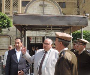 مدير أمن القليوبية يراجع إجراءات تأمين الكنائس ببنها وشبرا الخيمة (صور)