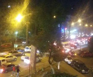 إصابة شاب صدمته سيارة أثناء عبوره الطريق بشارع الهرم (صور)