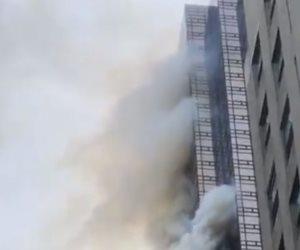 أسطول من سيارات الإطفاء تسيطر على حريق المنطقة الصناعية في أكتوبر