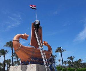 كفر الشيخ تتزين استعدادا لاحتفالات شم النسيم ..شواطئ بلطيم في انتظار مليوني زائر (صور)