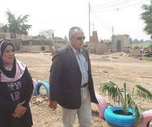 رئيس مدينة أشمون يتابع استكمال أعمال التطوير والتجميل بطهواى