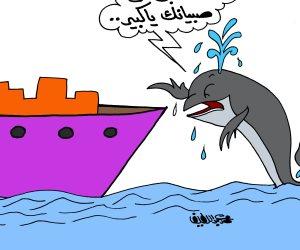 تجارة الهيروين أخطر من الحوت الأزرق في كاريكاتير «صوت الأمة»
