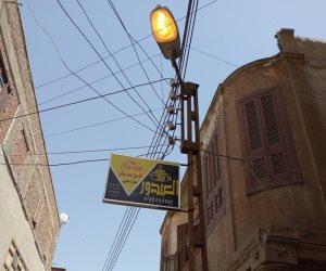 أهالي كفر صقر :إضاءة أعمدة بشارع الخمارة في عز النهار (صورة)