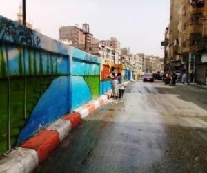 استمرار أعمال النظافة والتجميل بشوارع حى غرب بسوهاج  (صور)