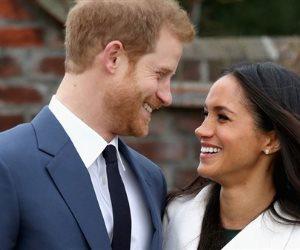 دعاية بريطانية لحفل زفاف الأمير هارى والممثلة ميجان على أكواب زجاجية