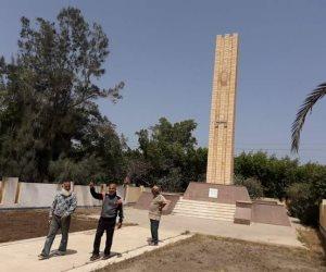 تجهيز ساحة الجندي المجهول بالعريش استعدادا لاحتفالات تحرير سيناء (صور)