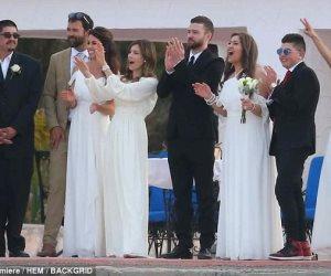 شاهد.. إطلالة العروس «جيسيكا بيل» في حفل زفاف أخيها (صور)